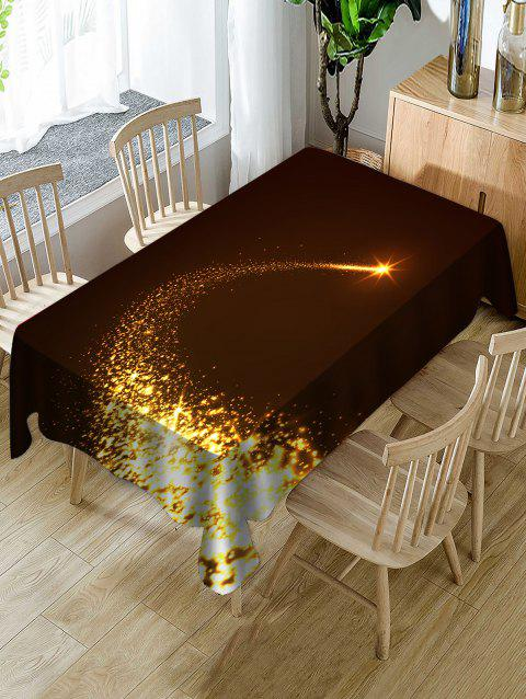 Christmas Starlight Print Waterproof Tablecloth - multicolor W60 X L84 INCH