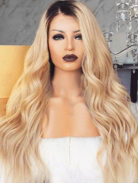 Long Ombre Wavy Party Synthetic Wig - multicolor