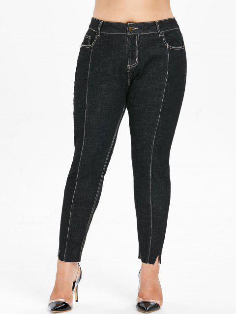Plus Size Five Pocket Jeans - BLACK 1X