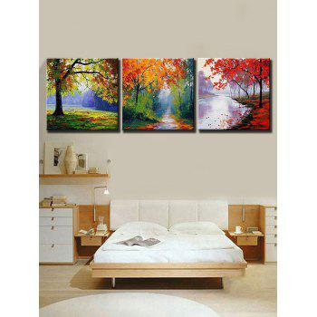 Maple Forest Print Unframed Canvas Paintings - multicolor 3PCS X 20 X 20 INCH( NO FRAME )