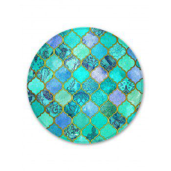 Vintage Geometric Decorative Round Floor Rug - AQUAMARINE 120CM (ROUND)