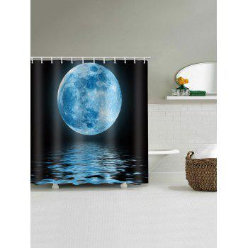 Moon Lake Print Waterproof Shower Curtain - multicolor W59 X L71 INCH
