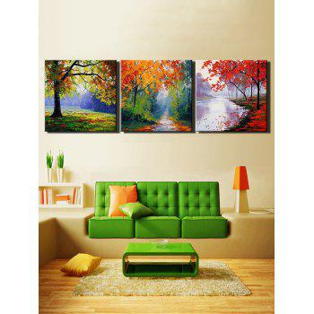 Maple Forest Print Unframed Canvas Paintings - multicolor 3PCS X 24 X 24 INCH( NO FRAME )