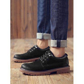 Lace Up Low Top Sneakers - BLACK EU 41