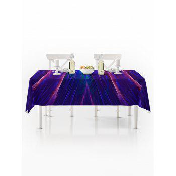 Abstract Galaxy Print Waterproof Tablecloth - multicolor W60 X L84 INCH