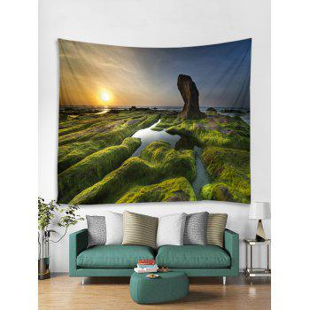 Sunset Scenic Print Tapestry Wall Art - multicolor W59 X L51 INCH