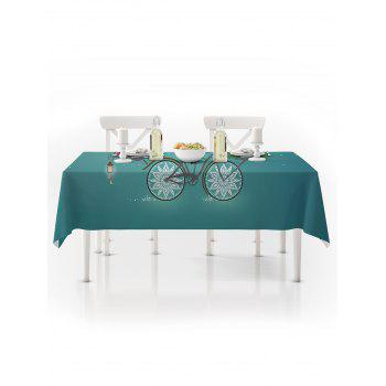 Christmas Santa Claus Gifts Print Waterproof Tablecloth - MACAW BLUE GREEN W54 X L54 INCH