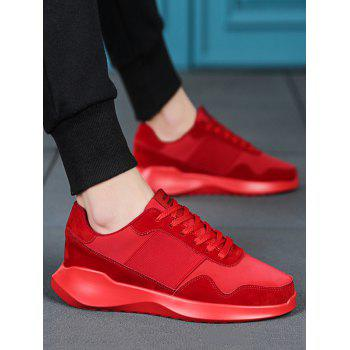 Lace Up Chunky Running Sneakers - RED EU 41
