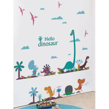 Cartoon Dinosaur Print Removable Wall Sticker - multicolor 20 X 28 INCH