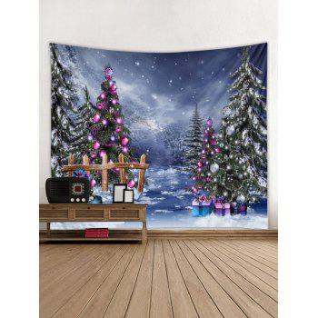 Christmas Tree Wall Tapestry Art Decoration - multicolor W79 X L59 INCH