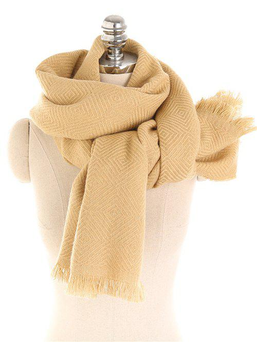 Solid Color Thicken Winter Long Scarf - SUN YELLOW