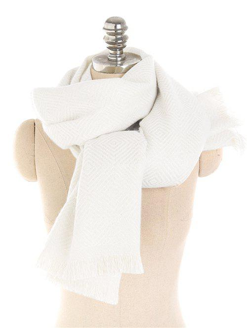 Solid Color Thicken Winter Long Scarf - BEIGE