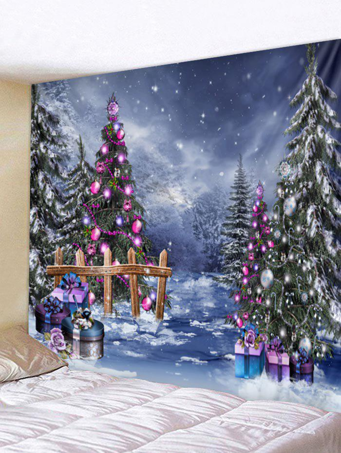 Christmas Tree Wall Tapestry Art Decoration - multicolor W118 X L79 INCH