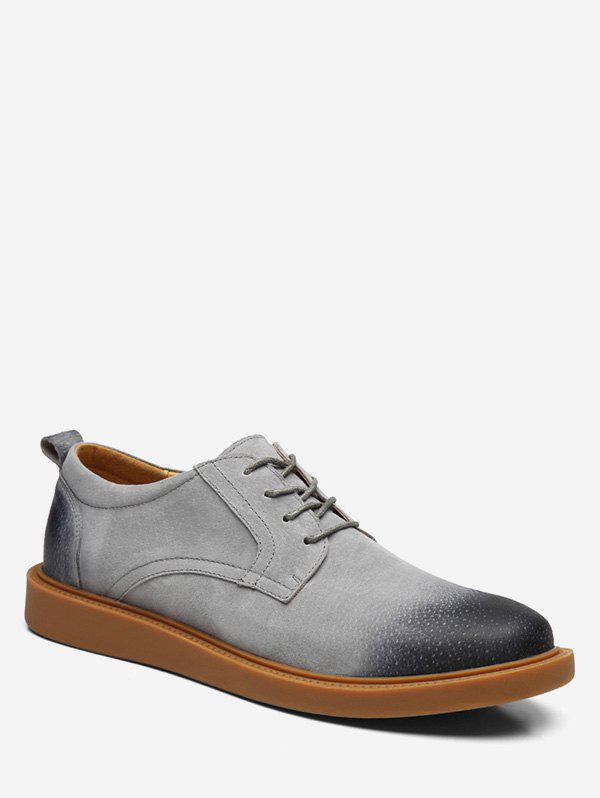 Low Top Lace Up leisure Sneakers - GRAY EU 40
