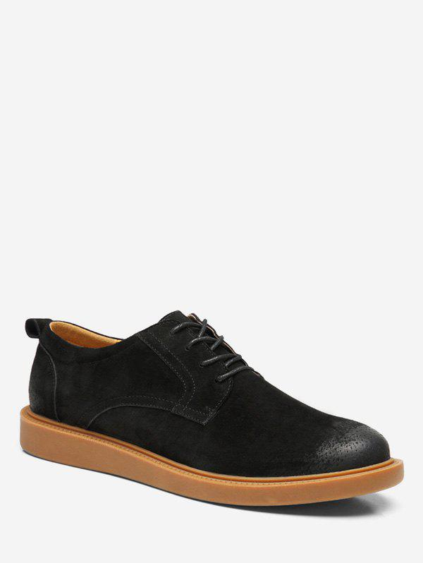 Low Top Lace Up leisure Sneakers - BLACK EU 40