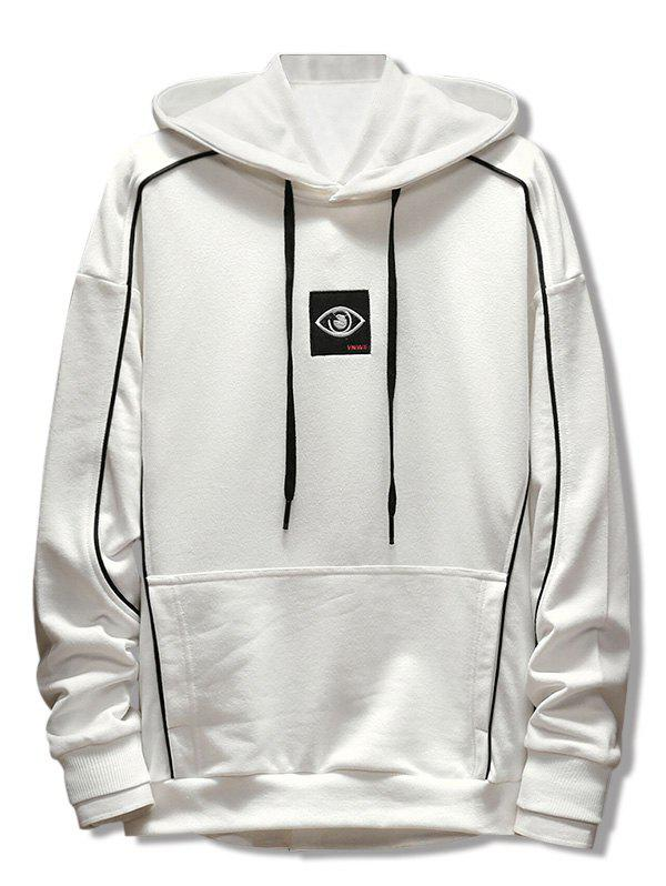 Embroidery Applique Casual Pocket Hoodie