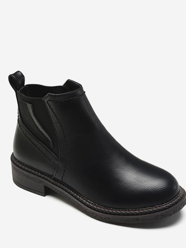 Low Heel Short Chelsea Boots - BLACK EU 38