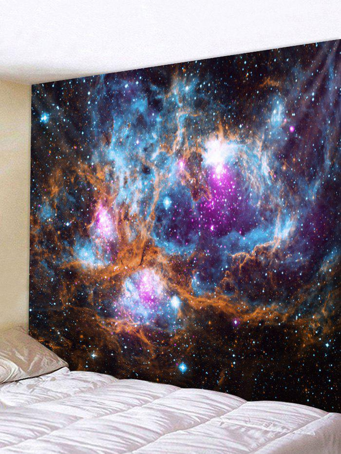 Universe Galaxy Print Tapestry Wall Art - multicolor W59 X L51 INCH