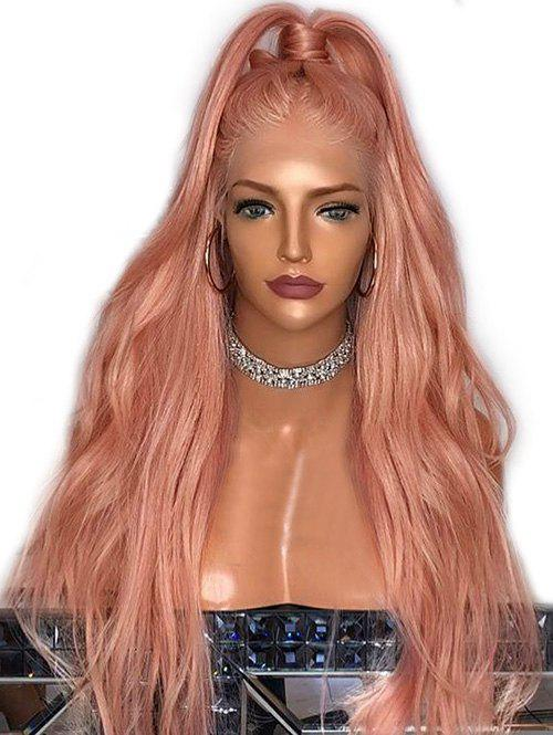 Long Synthetic Party Cosplay Natural Wavy Wig - ORANGE PINK