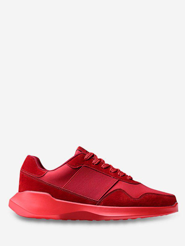 Lace Up Chunky Running Sneakers - RED EU 40