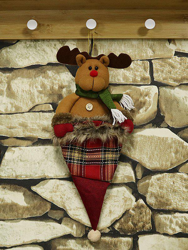 Christmas Decoration Gift Hanging Doll Bag - multicolor C