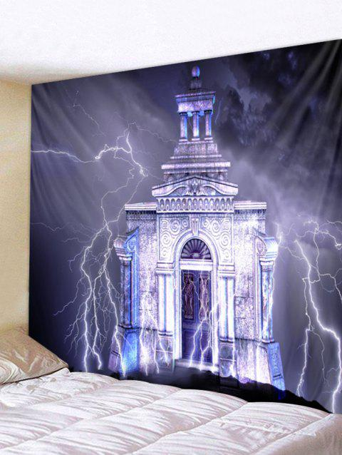 Lightning Castle Wall Tapestry Art Decoration - multicolor W79 X L71 INCH