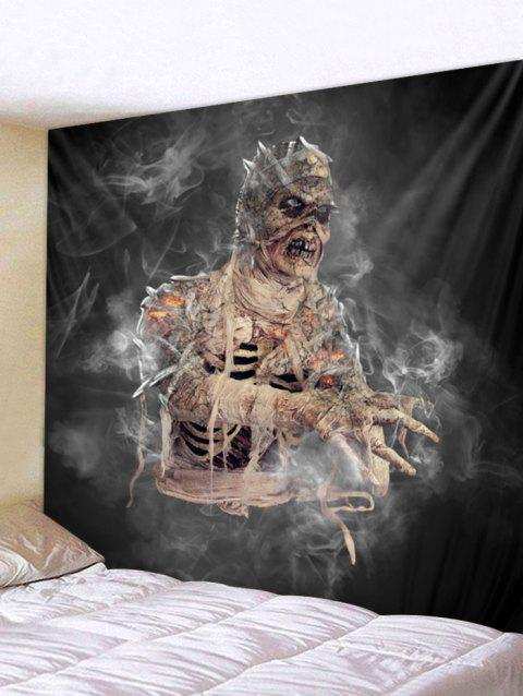 Halloween Mummy Wall Tapestry Art Decoration - CARBON GRAY W91 X L71 INCH