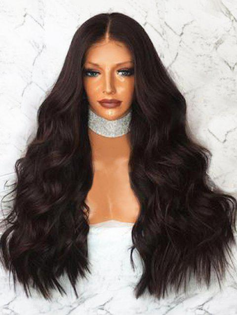 Middle Part Body Wave Synthetic Long Wig - NATURAL BLACK