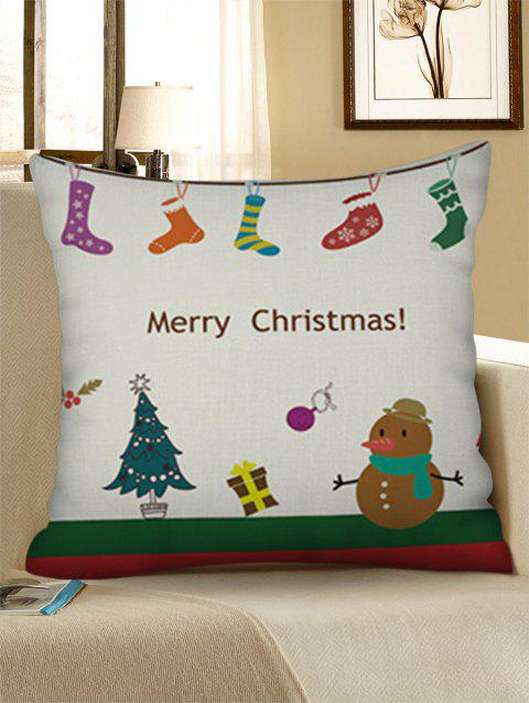 Christmas Decorations Pattern Print Throw Pillow Case - WARM WHITE W18 X L18 INCH