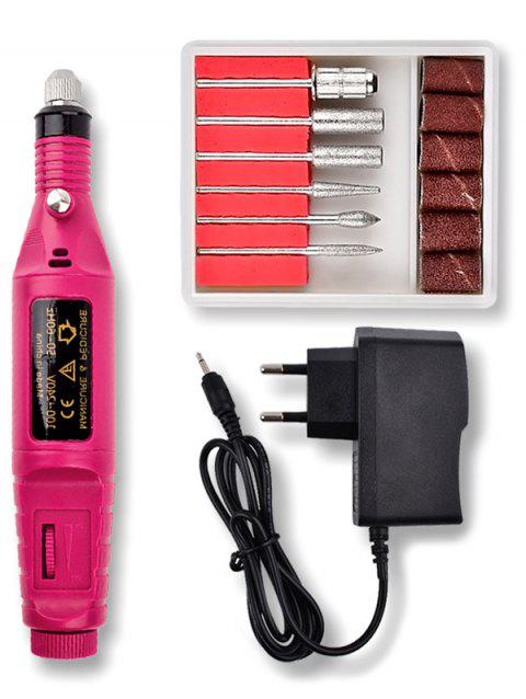Professional Nail File Drill Manicure Polish Machine - ROSE RED