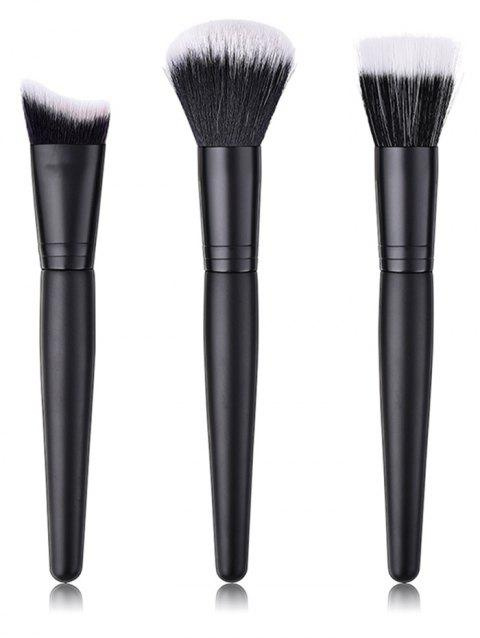 Cosmetic Soften Silky Foundation Blush Makeup Brush Suit - BLACK REGULAR