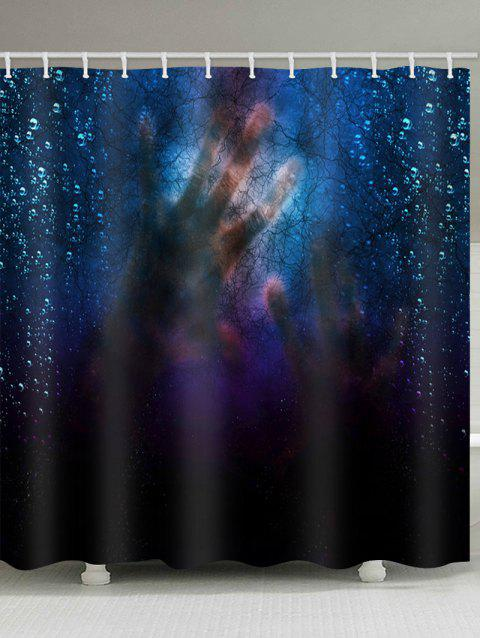 Hands Shadow Print Waterproof Shower Curtain - multicolor W71 X L71 INCH