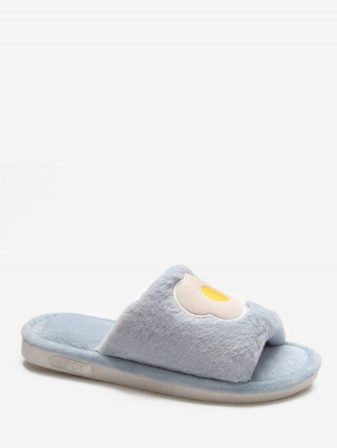 Cartoon Fruit Winter Fluffy Slippers - BLUE EU 41