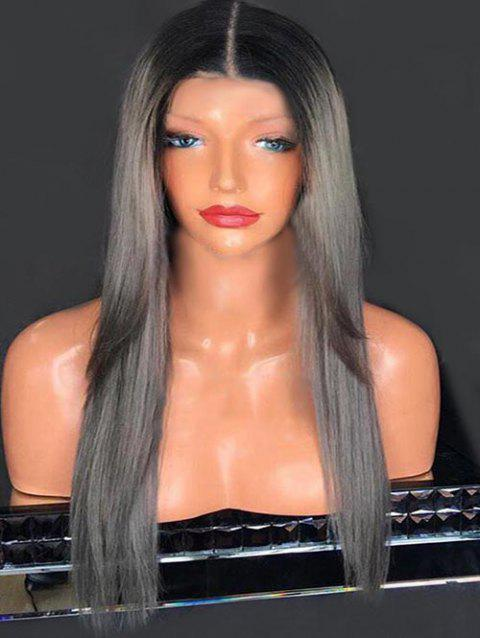 Middle Part Colormix Straight Capless Long Synthetic Wig - multicolor