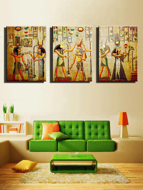 African Tribe Print Unframed Canvas Paintings - multicolor 3PCS X 12 X 18 INCH( NO FRAME )