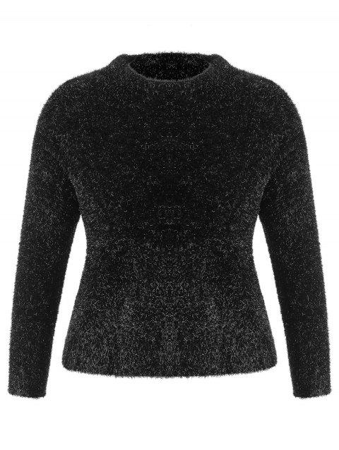 Plus Size Glitter Sweater - BLACK 1X
