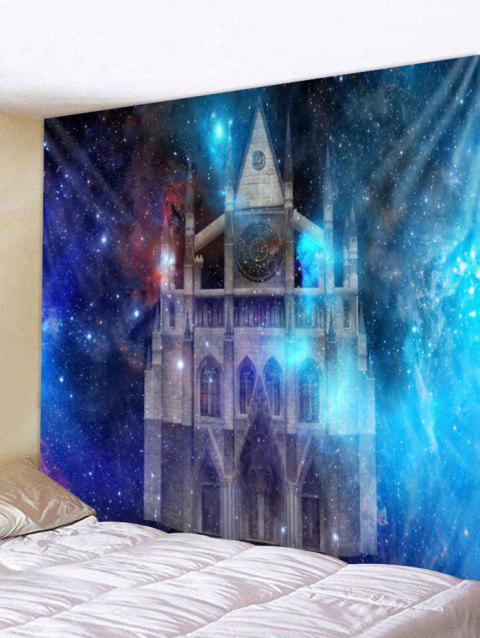 Starry Sky Castle Print Wall Tapestry Art Decoration - multicolor W91 X L71 INCH