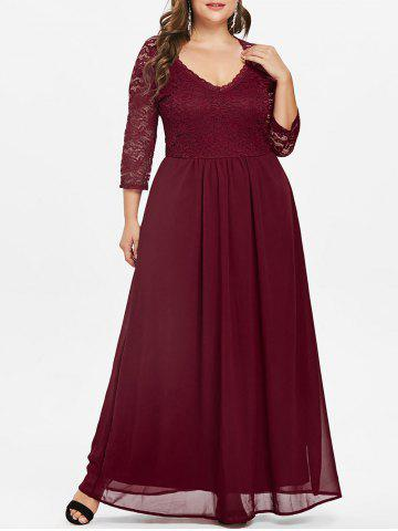 2019 Lace Wine Color Dress Online Store. Best Lace Wine Color Dress ...