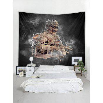 Halloween Mummy Wall Tapestry Art Decoration - CARBON GRAY W59 X L51 INCH