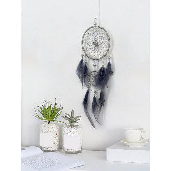 Feathers Fringed Dream Catcher Tenture murale - Gris