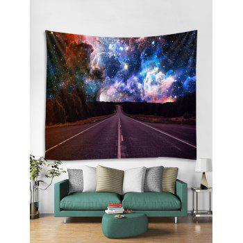 Highway Galaxy Print Tapestry Wall Art - multicolor W59 X L59 INCH
