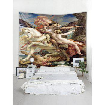 Oil Painting Wall Tapestry Art Decoration - multicolor W79 X L71 INCH