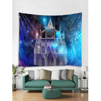Starry Sky Castle Print Wall Tapestry Art Decoration - multicolor W59 X L51 INCH