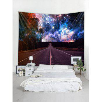 Highway Galaxy Print Tapestry Wall Art - multicolor W79 X L71 INCH