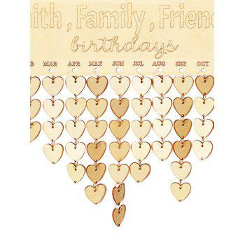 Wooden Faith Calendar Board - BURLYWOOD HEART