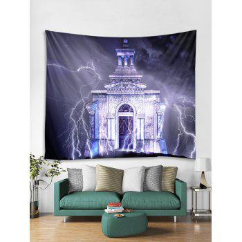 Lightning Castle Wall Tapestry Art Decoration - multicolor W59 X L51 INCH