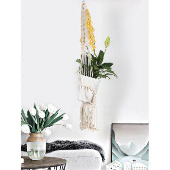 Pot Holder Braided Macrame Plant Hanger - BEIGE