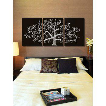 Tree Print Unframed Canvas Paintings - BLACK 3PCS X 24 X 35 INCH( NO FRAME )