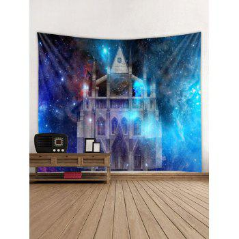 Starry Sky Castle Print Wall Tapestry Art Decoration - multicolor W79 X L71 INCH