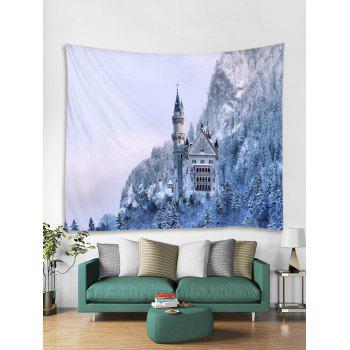 Snow Forest Printed Wall Tapestry Art Decor - multicolor W59 X L51 INCH